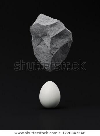 Levitatie stenen witte natuur tijd spa Stockfoto © inxti