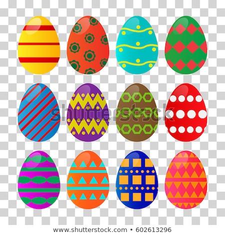 Iyi paskalyalar kart paskalya yumurtası şeffaf eğim Stok fotoğraf © adamson