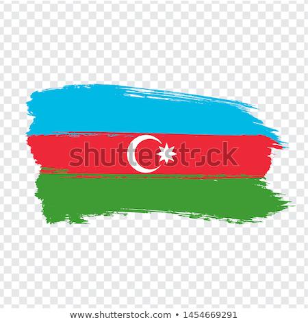 Азербайджан флаг белый сердце дизайна Мир Сток-фото © butenkow