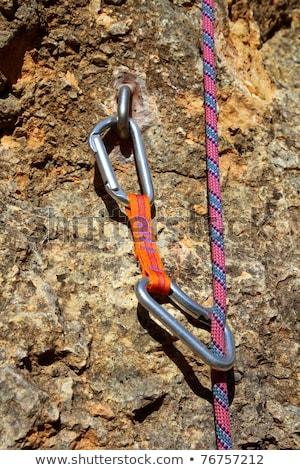 climbing equipment shackles harnesses ropes Stock photo © lunamarina