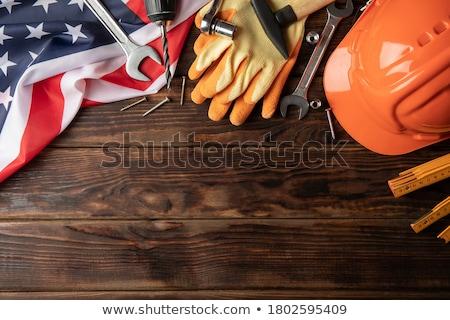 labor day text repair tools Stock photo © superzizie