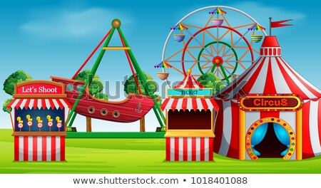 Background scene with park at daytime Stock photo © colematt