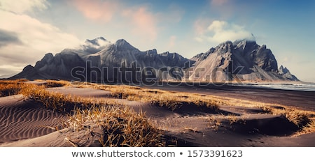 isola · cartoon · montagna · sole · mare · vettore - foto d'archivio © colematt