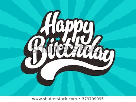 dag · verjaardag · oom · hoed · illustratie · vector - stockfoto © robuart