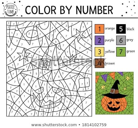 Wizard Outline Coloring Drawing Stock photo © Krisdog