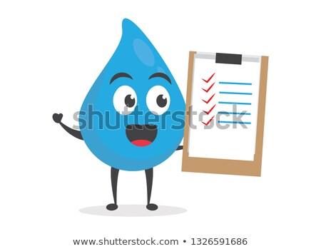 Felmérés kabala illusztráció papír tart toll Stock fotó © lenm