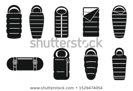 Camping Sleeping bag icon. Hiking adventure equipment symbol. Travel pictogram. Vintage hand drawn s Stock photo © JeksonGraphics