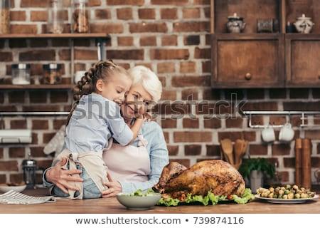 gandmother with a turkey stock photo © davisales