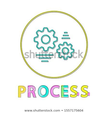 プロセス ウェブ ボタン リニア 明るい テンプレート ストックフォト © robuart