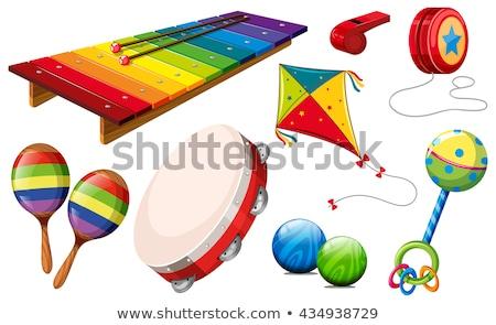 Stock fotó: Különböző · hangszerek · illusztráció · zene · háttér · mikrofon