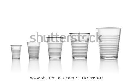 Tamaño vacío transparente plástico blanco Foto stock © make