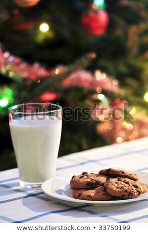 hagyományos · karácsony · sütik · tányér · felső · kilátás - stock fotó © furmanphoto