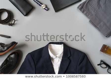 szett · férfiak · ruházat · kellékek · ikonok · különböző - stock fotó © netkov1