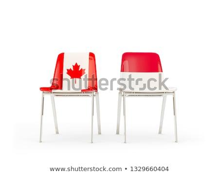 Due sedie bandiere Indonesia Canada isolato Foto d'archivio © MikhailMishchenko