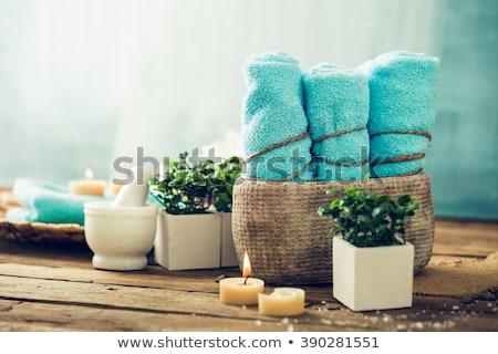 Fürdő termékek természetes wellness masszázs kövek Stock fotó © mythja