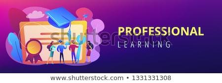 профессиональный образование баннер диплом окончания Сток-фото © RAStudio