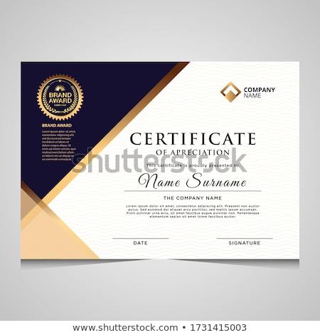 профессиональных · сертификата · шаблон · диплом · награда · дизайна - Сток-фото © SArts