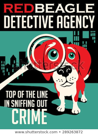 Color vintage detective agency poster Stock fotó © netkov1