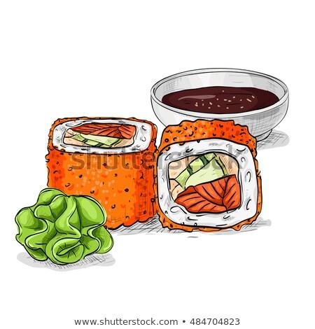 alimentare · sushi · sashimi · vettore · design - foto d'archivio © netkov1