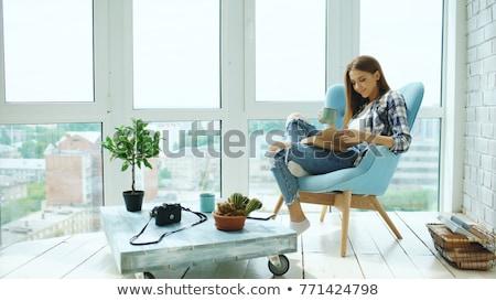 Rilassante outdoor tavola dormire cat Foto d'archivio © Giulio_Fornasar