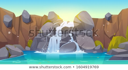 Naturalismo cena lago água montanhas Foto stock © robuart