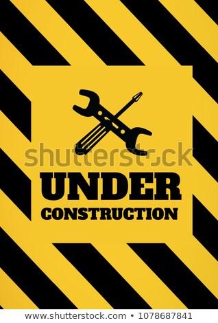 Construção texto ferramentas gráficos amarelo preto Foto stock © wavebreak_media
