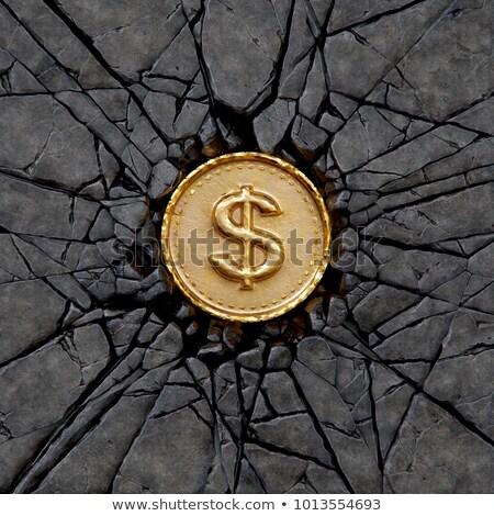 сломанной конкретные каменные деньги доллара символ Сток-фото © wavebreak_media