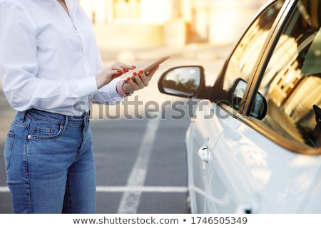 Online taksówką otwarte komórkowych app smartphone Zdjęcia stock © jossdiim