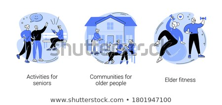 retirees lifestyle vector concept metaphors stock photo © rastudio
