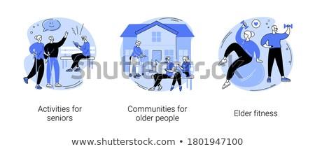 Retirees lifestyle vector concept metaphors Stock photo © RAStudio