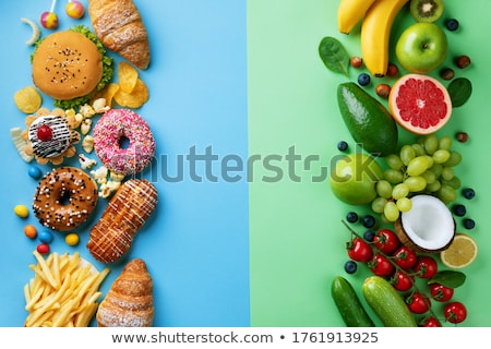 Fast food VS healthy food Stock photo © nomadsoul1