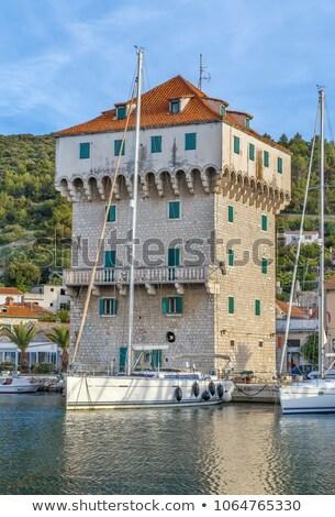 Torony marina Horvátország kikötő város víz Stock fotó © borisb17