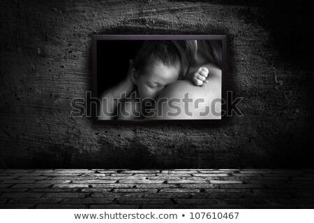 Portret moeder baby witte bomen Stockfoto © ElenaBatkova