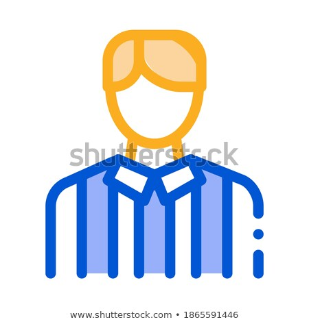 Football Arbitrator Icon Outline Illustration Stock photo © pikepicture