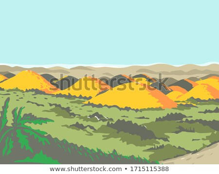 The Chocolate Hills WPA Retro Style Stock photo © patrimonio