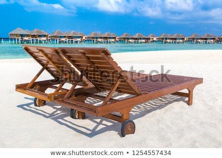 Espreguiçadeira Maldivas praia tropical verão dia Foto stock © bloodua