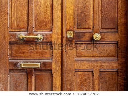 Vieux minable porte métal lock gérer Photo stock © kyolshin