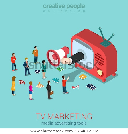Telemarketing Sale Isometric Icons Set Vector Stock photo © pikepicture