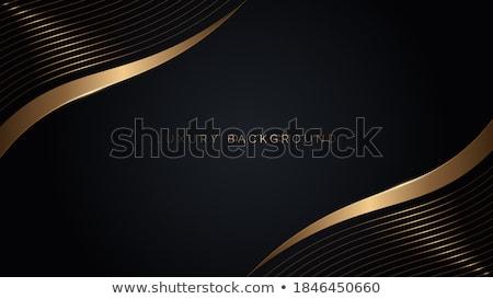 Prémium arany fekete hullámos névjegy terv Stock fotó © SArts
