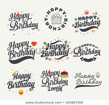 happy birthday celebration background with flat style balloons Stock photo © SArts