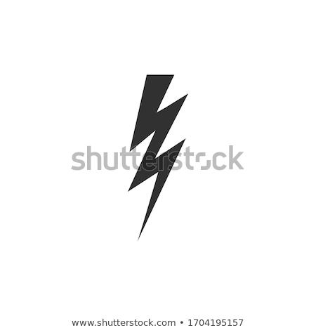 雷 アイコン ショック 在庫 孤立した 白 ストックフォト © kyryloff