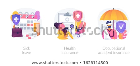 Sick leave abstract concept vector illustration. Stock photo © RAStudio