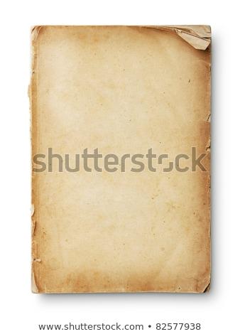 Closeup of an old book cover Stock photo © inxti