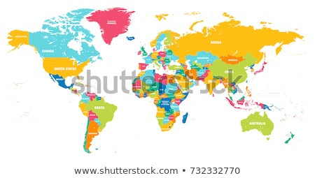 Detailed world map. Stock photo © Hermione