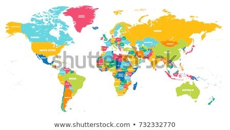 Szczegółowy mapie świata dokładny Pokaż świat ziemi Zdjęcia stock © Hermione