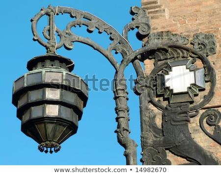 Ancient streetlamp from Bologna Stock photo © aladin66