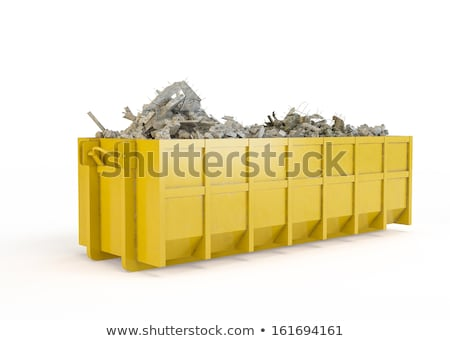 Old building site skip, isolated on a white background. Stock photo © latent