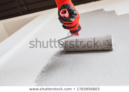 Male decorator with paint roller Stock photo © photography33