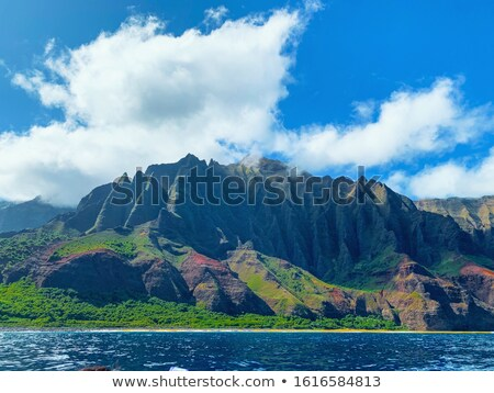 Na Pali mountains and lake Stock photo © backyardproductions