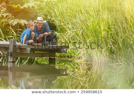 Vater-Sohn · Fischerei · zusammen · Sommerzeit · Sport · Landschaft - stock foto © photography33
